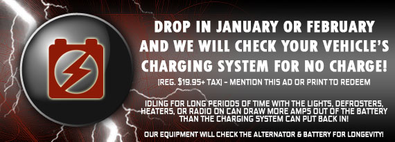 We Will Check Your Vehicle's Charging System